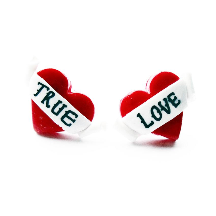 True Love Heart Stud Earrings